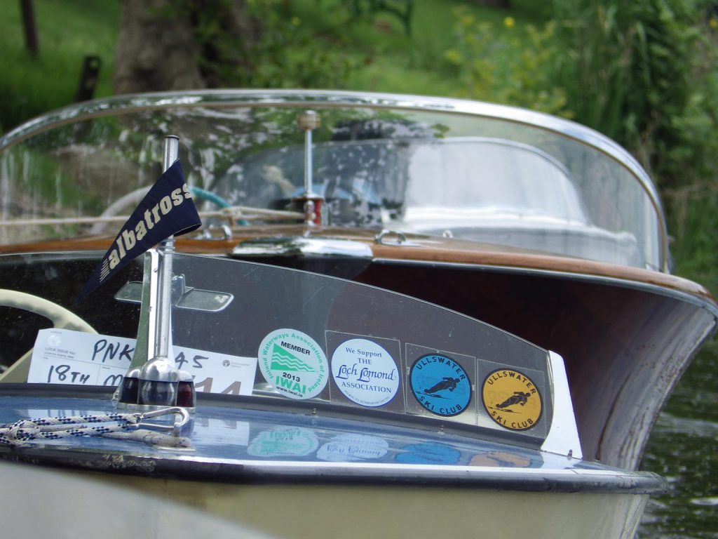 Front of classic boat