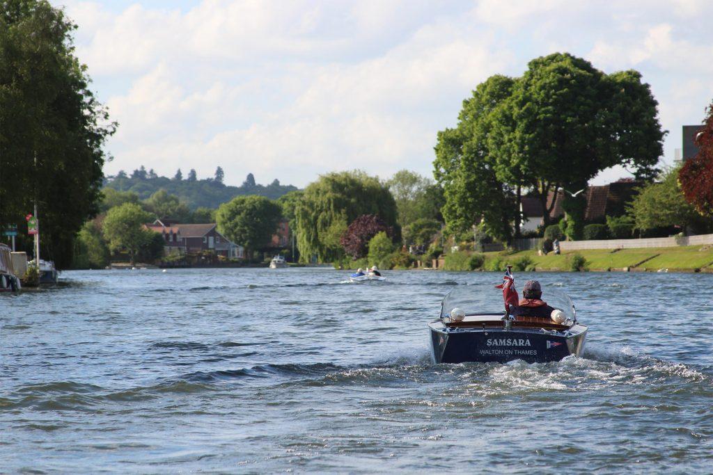 Samsara Boat on River