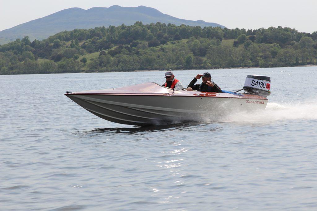 Tarantula ski race boat on loch lomond