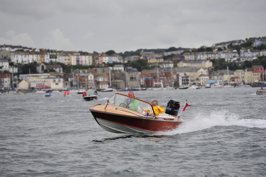 Poncelet Classic Wooden Speed Boat at Falmouth Classic Motor Boat Association Rally 2010