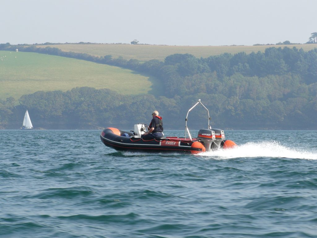 Raider classic rib with twin mariner 40hp outboards