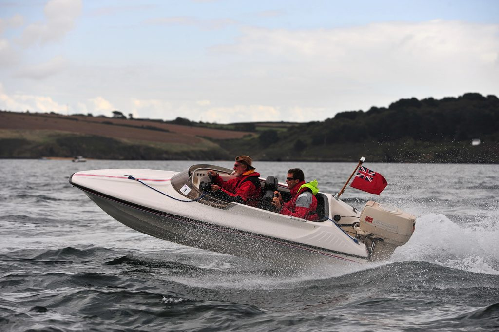 Shakespeare Mini Clubman Muchado at Falmouth Classic Motor Boat Rally