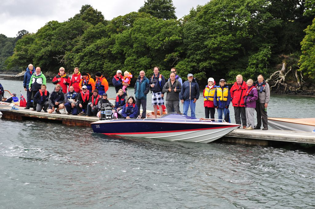 The Classic Motor Boat Association of Great Britain Members at Falmouth
