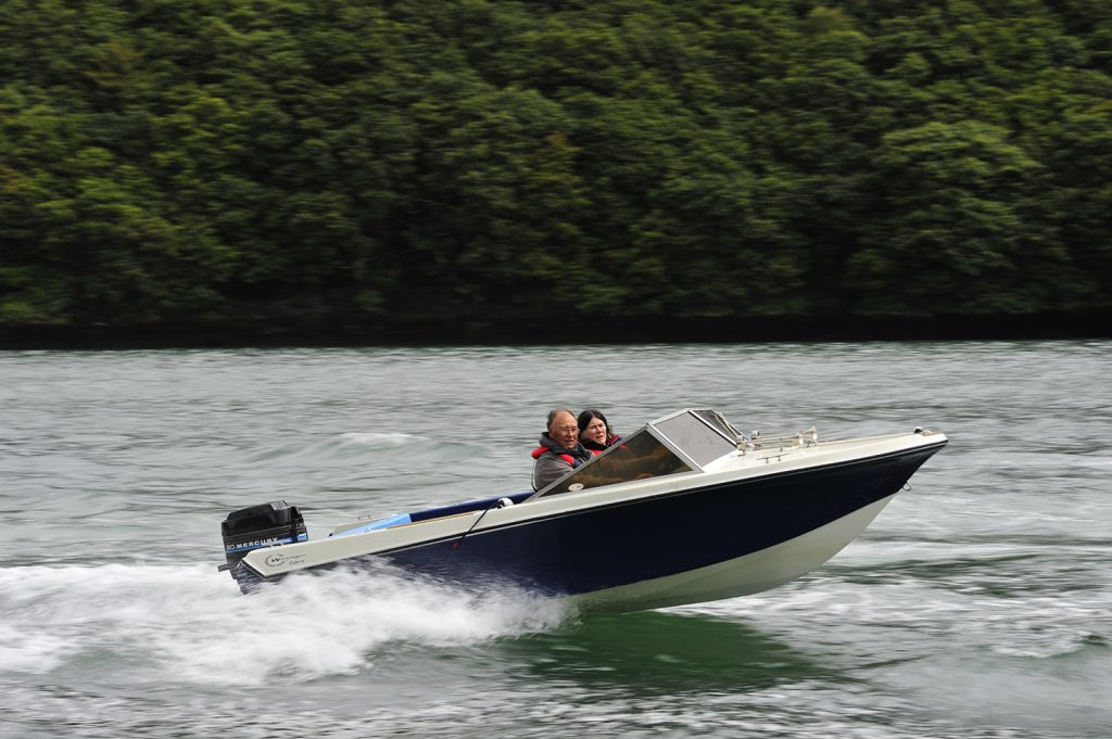 Winner Cobra Classic Speedboat at Falmouth Classic Boat Rally
